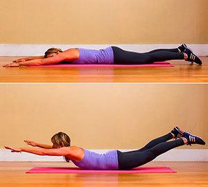 Упражнения лодочка (супермен): принципы выполнения лежа на спине и животе
