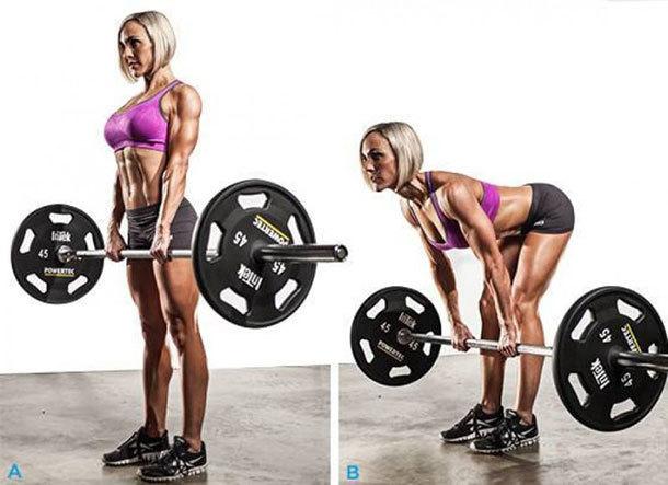 Упражнение мертвая тяга для девушек и мужчин