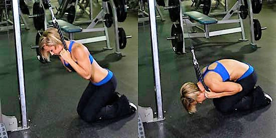 Виды упражнений для девушек на пресс в тренажерном зале.