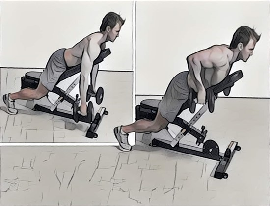 Тяга лежа на наклонной скамье: принципы и особенности