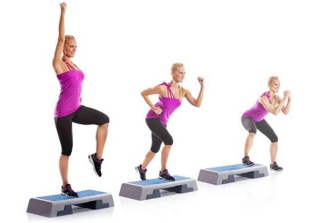 cтеп-аэробика для похудения в домашних условиях: польза для начинающих, основные шаги на степе