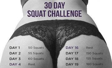 Как накачать попу за месяц: упражнения для домашних условий для ягодиц на 30 дней