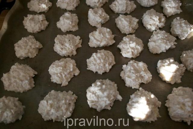 Печенье ПП из овсяных хлопьев и творога: пошаговый рецепт с фото